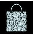 Shopping bag made of diamonds vector image vector image