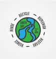simple letter earth day vector image
