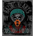 skull t shirt graphic design motorcycle club vector image vector image