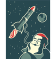 Space santa vector image