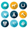 Stable Icons Set vector image