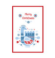 stylized folk ornament with winter goose vector image vector image