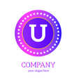 u letter logo design u icon colorful and modern vector image vector image