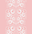 vertical lace seamless ribbon with roses white vector image