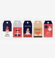 winter nd christmas sale tags in flat simple vector image vector image