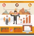 Businessman infographic with cartoon businessman vector image