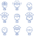 Police avatars vector image
