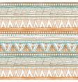 Seamless colorful aztec pattern orange Ethnic vector image