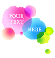 watercolor dots background vector image
