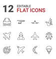 12 fly icons vector image vector image
