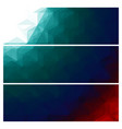 abstract triangles banners set vector image vector image