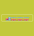 amusement park attractions child train carousels vector image