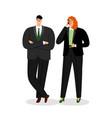 cartoon business couple vector image vector image