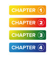 chapter bookmark button set vector image