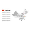 china map infographic template slide vector image