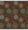 Christmas seamless pattern Light snowflake signs vector image