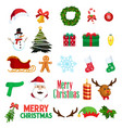 christmas winter clipart icons vector image vector image
