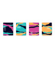 colorful set with abstract pattern cartoon vector image vector image