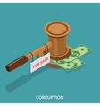Corruption isometric flat concept vector image