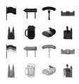 country germany blackmonochrome icons in set vector image vector image