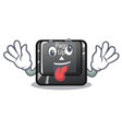 crazy button page up keyboard mascot vector image vector image