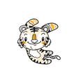 cute little tiger cartoon doodle vector image vector image