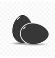 eggs icon simple flat style vector image
