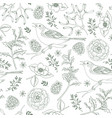 Elegant hand drawn christmas seamless pattern with