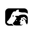 farm animals logo vector image