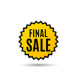 final sale special offer price sign vector image vector image