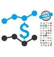 Financial Trends Icon With 2017 Year Bonus vector image vector image