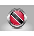 Flag of Trinidad and Tobago Metal Round Icon vector image vector image