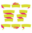 folded ribbon banner set collection label vector image vector image
