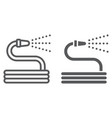 garden hose line and glyph icon farming vector image