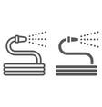 garden hose line and glyph icon farming vector image vector image