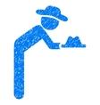 Gentleman Servant Grainy Texture Icon vector image vector image