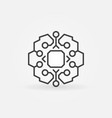 geometric smart brain with chip concept vector image