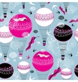 Graphic design of balloons and swallows vector image