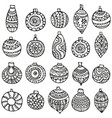 hand-drawn seamless pattern for christmas vector image vector image