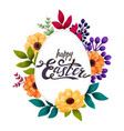 happy easter greeting card calligraphic lettering vector image vector image