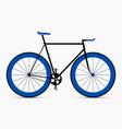 hipster single speed bike in black and blue colors vector image