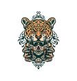 jaguar and skull vector image vector image