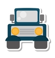 jeep vehicle transport isolated icon vector image