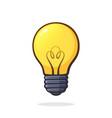 light bulb symbol idea new solution vector image vector image