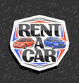 logo for rent a car vector image vector image