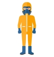 Man in protective chemical suit vector image vector image