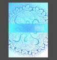 mandala simple thin line stylish background vector image