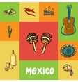 Mexico Squared Doodle Concept vector image vector image