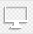 monitor with brush sign white icon with vector image vector image