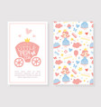 mummy little princess card template baby girl vector image vector image